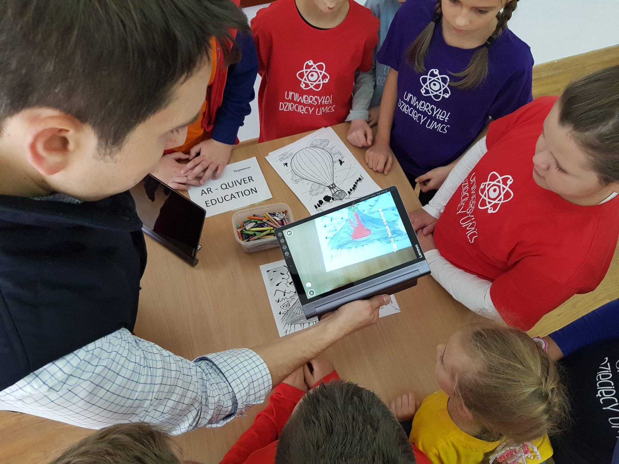 Rzeczywistość rozszerzona Augmented Reality Quiver Education Uniwersytet Dziecięcy UMCS