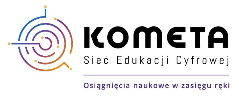 KOMETA Sieć Edukacja Cyfrowej logotyp