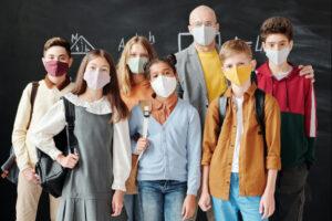 Klasa w maseczkach diagnoza