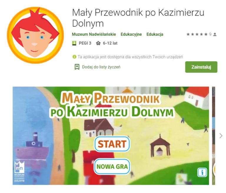 Mały Przewodnik Kazimierz Dolny - zrzut ekranu ze sklepu Google Play