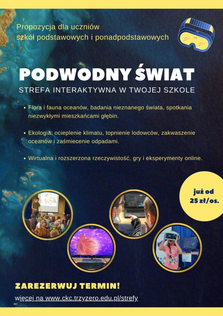 Strefa interaktywna PODWODNY SWIAT - plakat