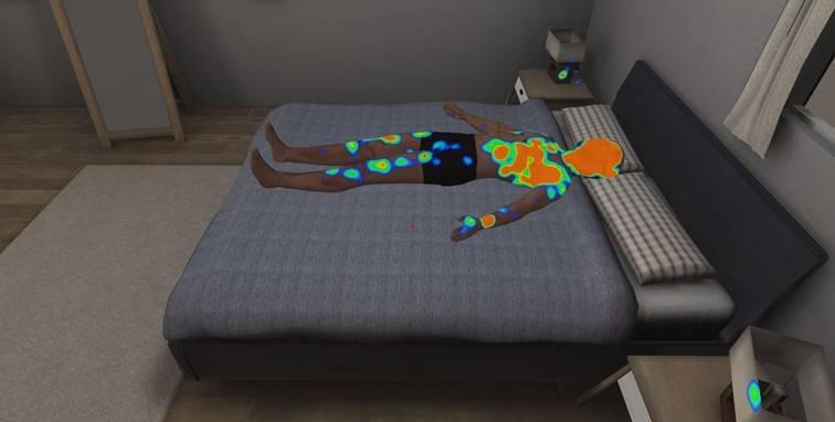 VR mapy ciepła eye-tracking