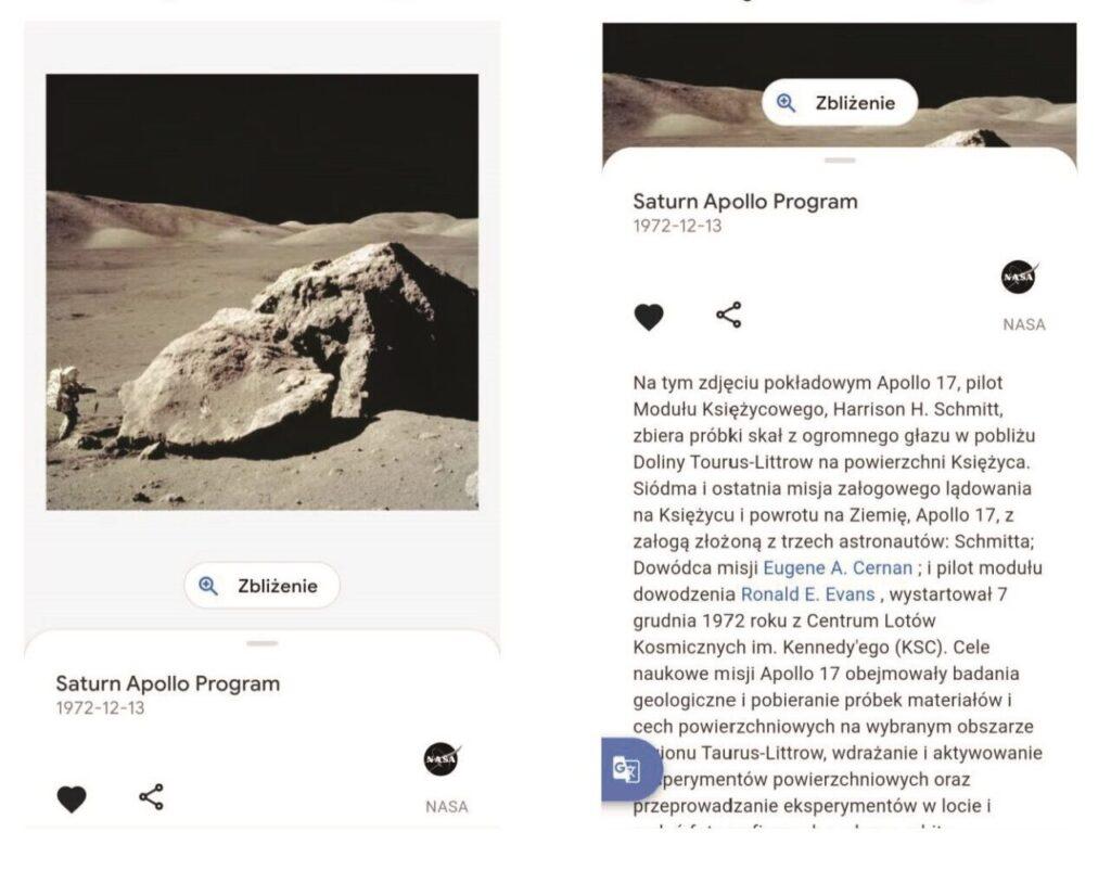 Program Apollo w Google Arts&Culture