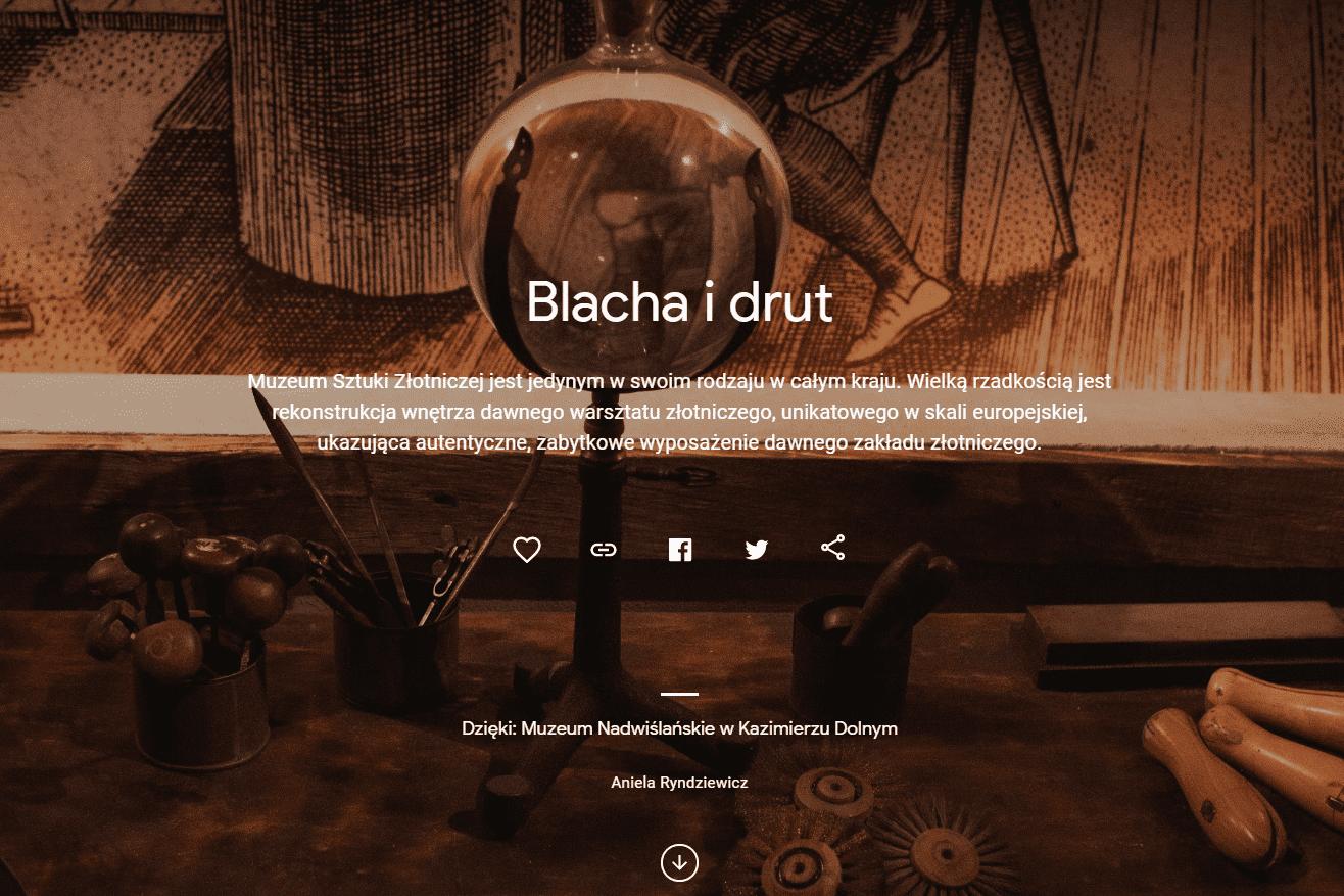 Warsztat złotniczy w Muzeum Nadwiślańskim w Kazimierzu Dolnym - artykuł Blacha i drut