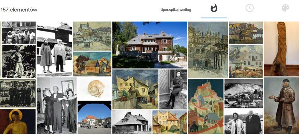 Kolekcja obrazów i zdjęć Muzeum Nadwiślańskiego w Kazimierzu Dolnym