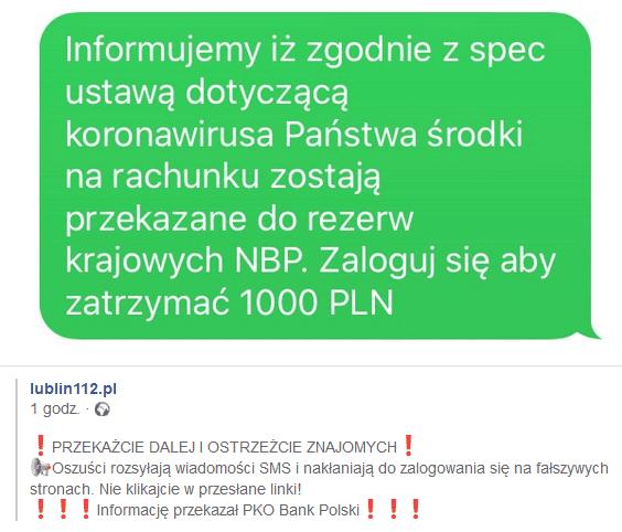 Bezpieczeństwo danych w sieci przykład phishingu